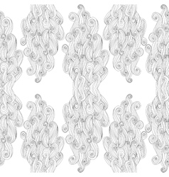 abstract hand-drawn pattern with waves and vector image vector image