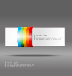 Abstract rainbow stripe banner vector