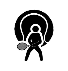 ball tennis sport design vector image
