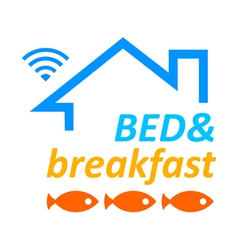 Bed and breakfast vector image