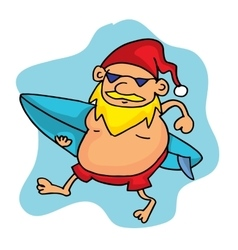Christmas santa surfing collection stock vector