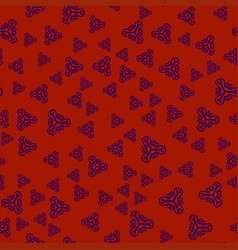creative print withornamental triangles vector image vector image