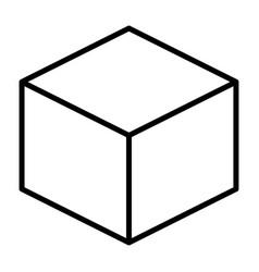 cube line icon simple minimal 96x96 pictogram vector image vector image