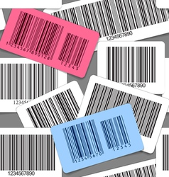 Different types of barcodes seamless background vector image