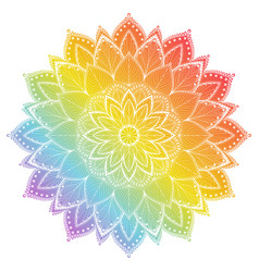 flower mandala vintage tattoo decorative elements vector image