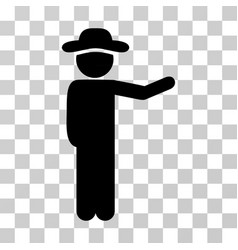 gentleman show icon vector image vector image