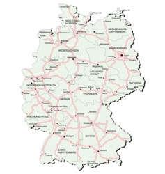 Germany autobahn map vector image vector image