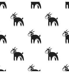 Goat icon black single bio eco organic product vector
