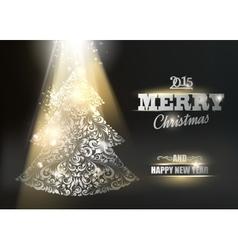 Gold ornamental fir-tree vector image vector image