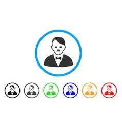 Hitler manager icon vector