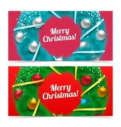 Holiday Christmas banners vector image vector image