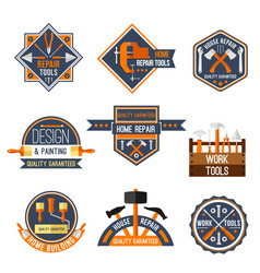 icons set of home repair work tools vector image vector image