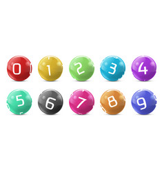 Lotto bingo colored balls with numbers vector