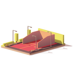 Low poly squash court vector