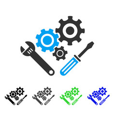 Mechanics tools flat icon vector
