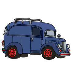 old blue van vector image