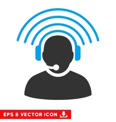 Operator radio signal eps icon vector