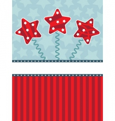 red and blue star background vector image vector image