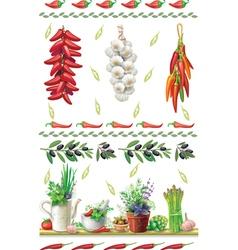 Set of Food borders vector image vector image