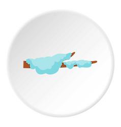 Snow icon circle vector