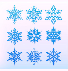 snowflake icons set christmas holiday symbol vector image vector image