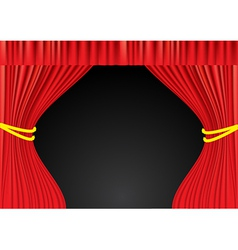 Theater red curtains vector image