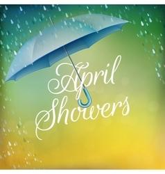 Umbrella in the rain eps 10 vector