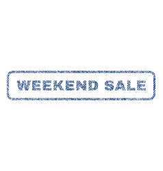 Weekend sale textile stamp vector