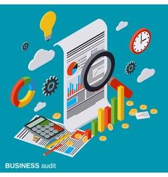 Business audit financial analytics statistics vector image