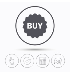 Buy icon online shopping star sign vector