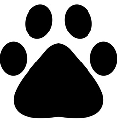 paw footprint vector image