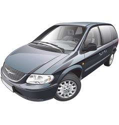 American minivan vector image
