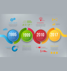 Process charts with steps infographics vector
