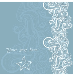 Abstract invitation card template frame design for vector