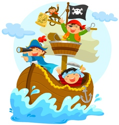 happy pirates vector image