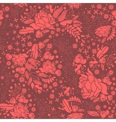 Wedding invitations Floral ornament on dark vector image