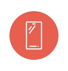 Cellphone thin line icon vector