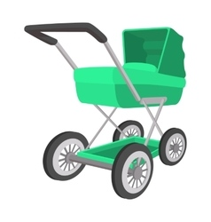 Green buggy cartoon icon vector