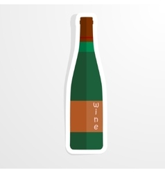 Wine bottle in the paper - vector image