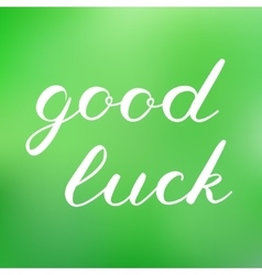 Good luck brush lettering cute handwriting vector
