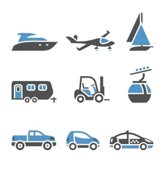 Transport Icons - A set of first vector image
