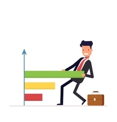 Businessman or manager draws the chart People vector image