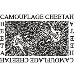 Camouflage Cheetah vector image vector image