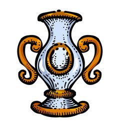Cartoon image of trophy icon prize symbol vector