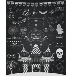 Chalk drawing hand sketched doodle vector