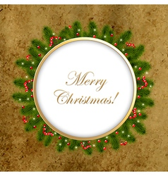 Christmas Composition With Old Paper vector image vector image