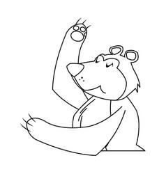 circus bear animal funny entertainment vector image