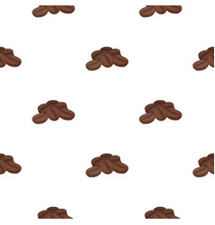 Coffee beans icon in cartoon style isolated on vector