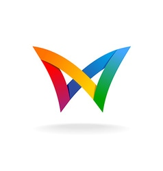 Colorful rainbow logo vector image vector image