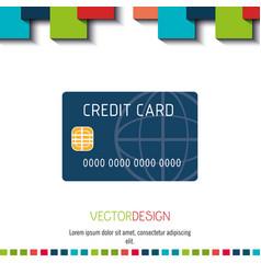 Credit card icon design vector